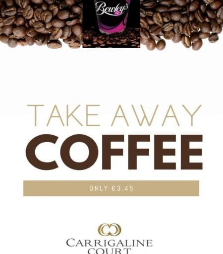 Take Away Coffee Now Available in Collins Bar